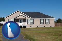 delaware map icon and a manufactured home