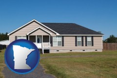 minnesota map icon and a manufactured home