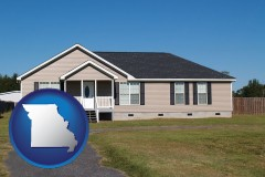 missouri map icon and a manufactured home