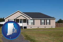 rhode-island map icon and a manufactured home