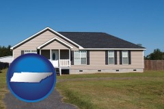tennessee map icon and a manufactured home