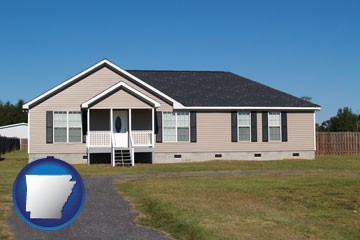 a manufactured home - with Arkansas icon