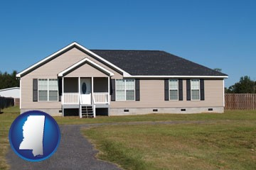 a manufactured home - with Mississippi icon