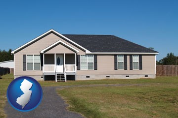 a manufactured home - with New Jersey icon