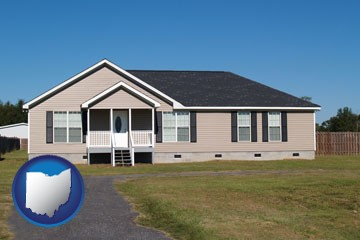 a manufactured home - with Ohio icon