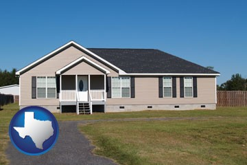 a manufactured home - with Texas icon