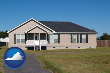 a manufactured home - with Virginia icon