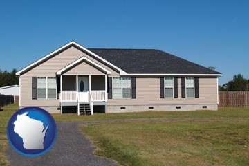 a manufactured home - with Wisconsin icon