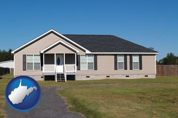 a manufactured home - with West Virginia icon