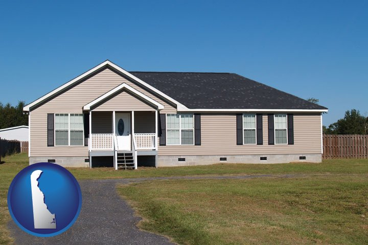 A Manufactured Home With Delaware Icon